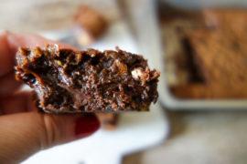 brownie au dulcey et chocolat noir