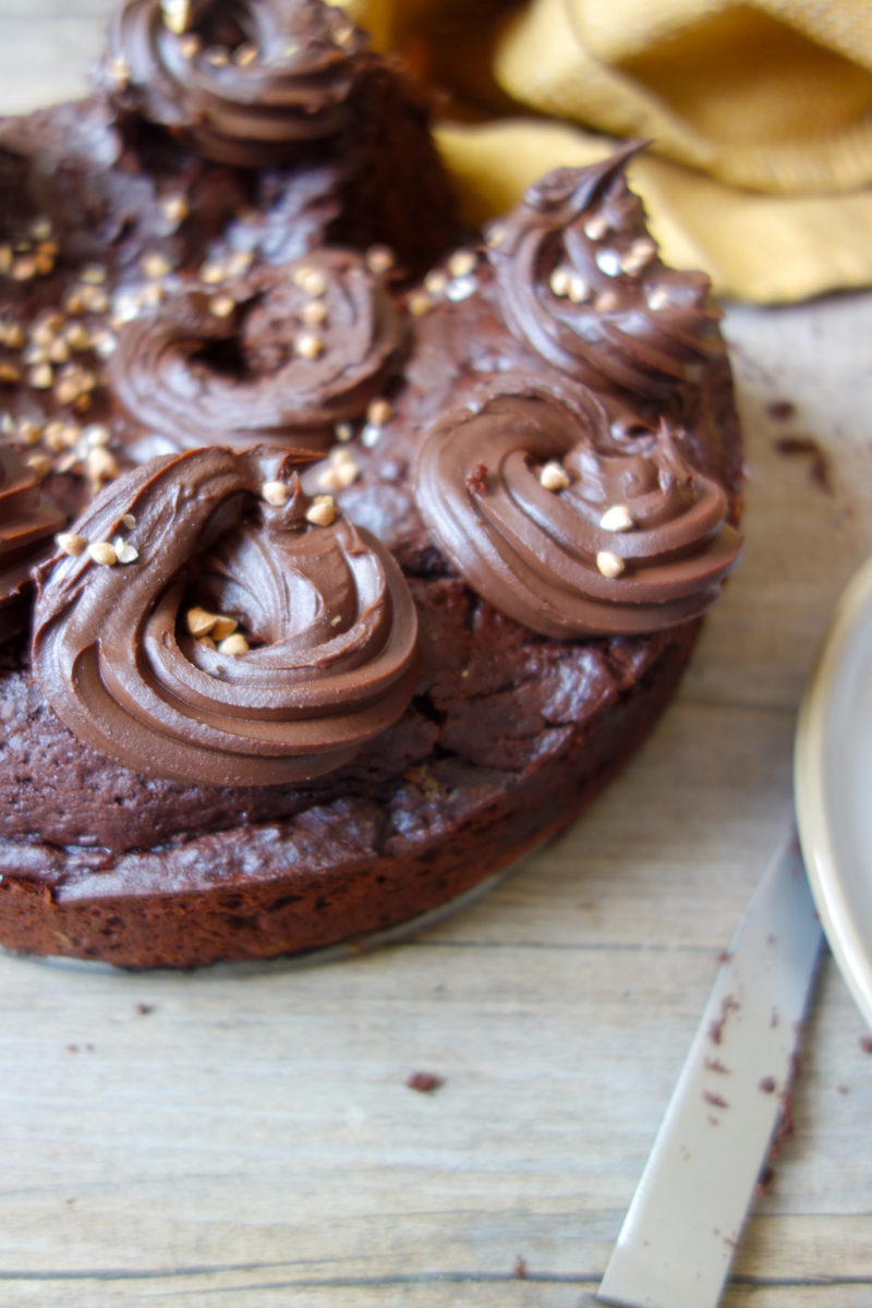 gâteau au chocolat au lait fermenté
