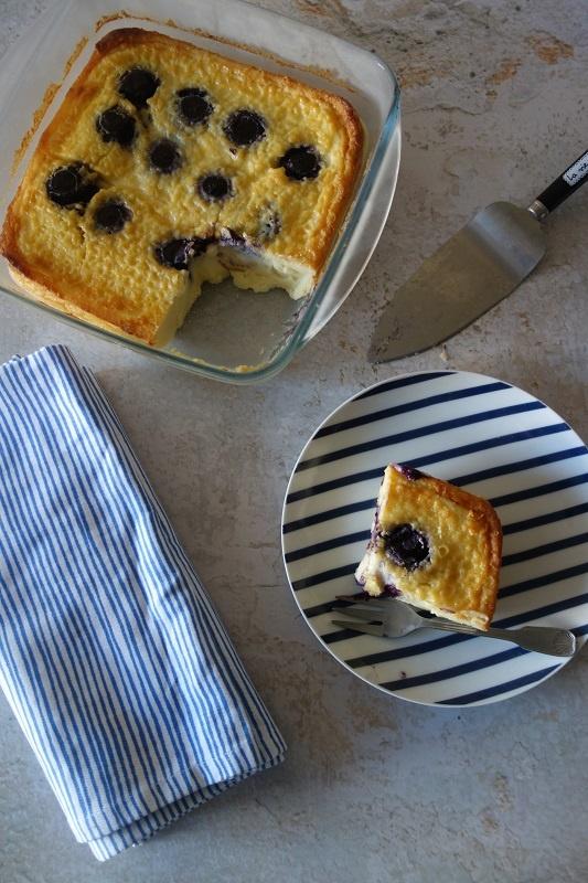 far breton à la crème de myrtille